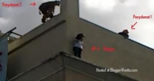 screenshot video gadis bunuh diri