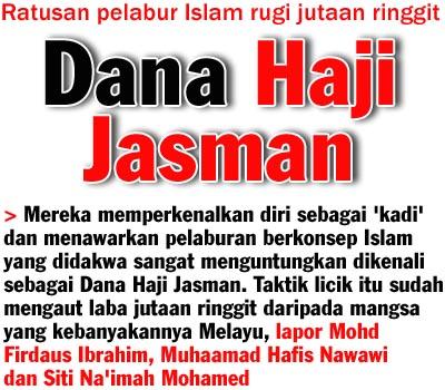 Pelaburan Dana Haji Jasman