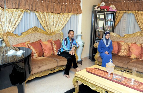 Rumah banglo Mawi dan Ekin di Bangi - ruang tamu