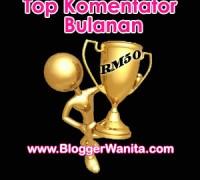 Top Komentator Bulanan Bloggerwanita.com