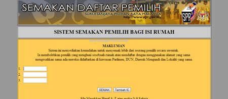 Semakan Daftar Pemilih 2 untuk PRU13