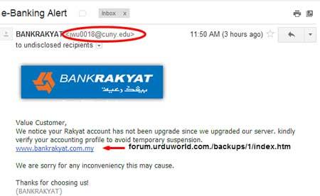 Email Spam Dari Bank Rakyat