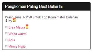 Top Komentator Mei 2013