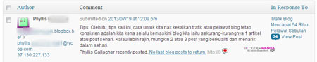 Komen Spam Bahasa Melayu
