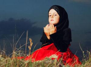 Gambar Budak Perempuan Bersyukur