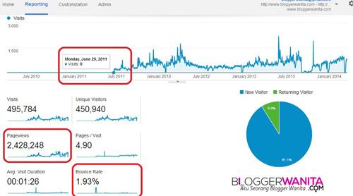 Apa itu bounce rate dalam statistik blog?