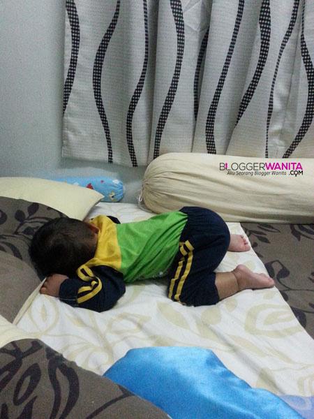 Cara tidur baby Awish