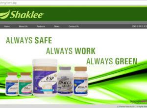 Laman web Shaklee.com.my