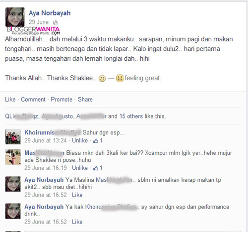 Testimoni Set Puasa Shaklee Mighty Triple Gems