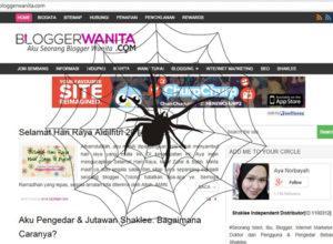 Blog Bersawang Laba-Laba